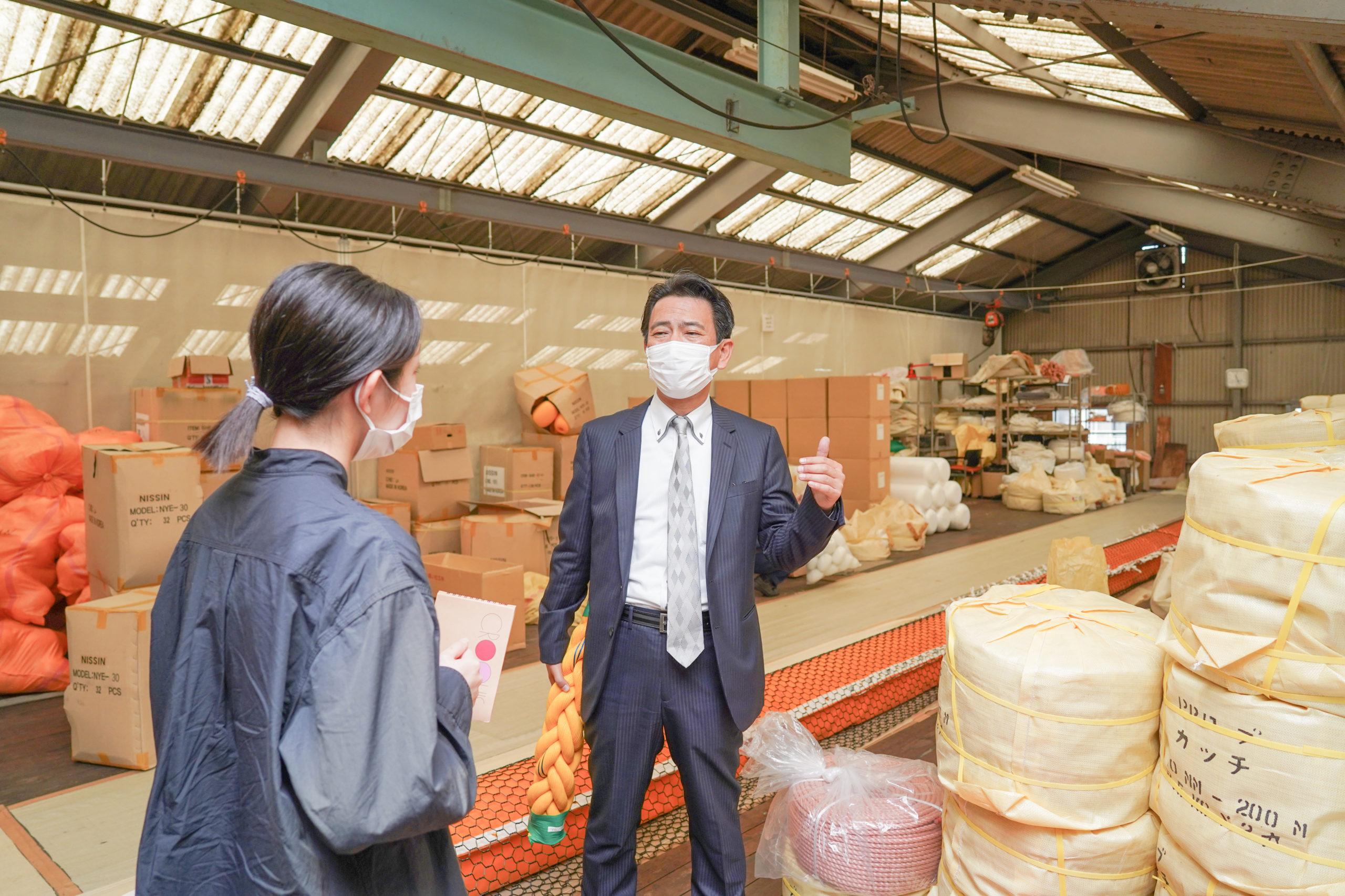 植木社長に工場を案内してもらいました。